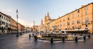 Άποψη του navona πλατειών, Ρώμη, Ιταλία Στοκ Φωτογραφία