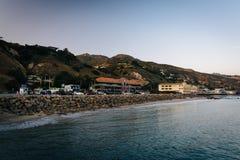 Άποψη του Pacific Coast από την αποβάθρα Malibu, σε Malibu, Calif Στοκ φωτογραφία με δικαίωμα ελεύθερης χρήσης