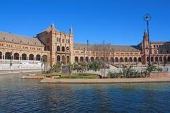 Άποψη του Plaza της Ισπανίας. Στοκ εικόνες με δικαίωμα ελεύθερης χρήσης