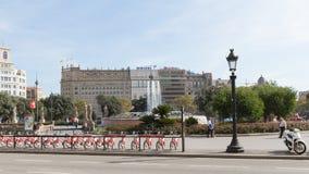 Άποψη του Plaza Catalunya, Βαρκελώνη Στοκ εικόνα με δικαίωμα ελεύθερης χρήσης
