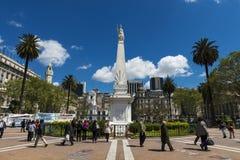 Άποψη του Plaza de Mayo στο Μπουένος Άιρες, Αργεντινή Στοκ εικόνες με δικαίωμα ελεύθερης χρήσης