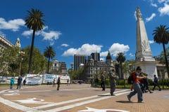 Άποψη του Plaza de Mayo στο Μπουένος Άιρες, Αργεντινή Στοκ φωτογραφία με δικαίωμα ελεύθερης χρήσης
