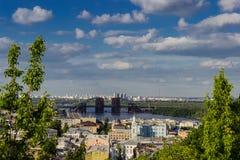 Άποψη του Podil και του Troeshchina Στοκ Εικόνα