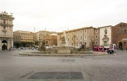 Άποψη του repubblica della πλατειών, Ρώμη Στοκ φωτογραφία με δικαίωμα ελεύθερης χρήσης
