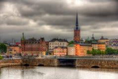 Άποψη του sity κέντρου της Στοκχόλμης, Σουηδία Στοκ Εικόνες