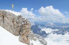 Άποψη του Zugspitze Στοκ Εικόνες
