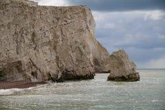 Άποψη των απότομων βράχων στο κεφάλι Seaford Στοκ φωτογραφία με δικαίωμα ελεύθερης χρήσης