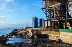Άποψη των βιομηχανικών εγκαταστάσεων Στοκ Φωτογραφίες