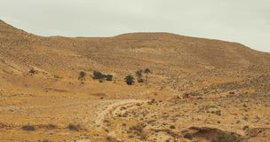 Άποψη των βουνών ατλάντων Νότια Τυνησία Στοκ Εικόνες
