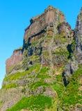 Άποψη των βουνών στη διαδρομή Pico Areeiro - Pico Ruivo, νησί της Μαδέρας, Πορτογαλία, Ευρώπη Στοκ φωτογραφία με δικαίωμα ελεύθερης χρήσης