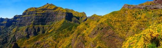 Άποψη των βουνών στη διαδρομή Encumeada - Boca de Corrida, νησί της Μαδέρας, Πορτογαλία, Ευρώπη Στοκ εικόνες με δικαίωμα ελεύθερης χρήσης
