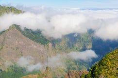 Άποψη των βουνών στη διαδρομή Encumeada - Boca de Corrida, νησί της Μαδέρας, Πορτογαλία, Ευρώπη Στοκ φωτογραφίες με δικαίωμα ελεύθερης χρήσης