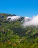 Άποψη των βουνών στη διαδρομή Encumeada - Boca de Corrida, νησί της Μαδέρας, Πορτογαλία, Ευρώπη Στοκ Εικόνα