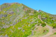 Άποψη των βουνών στη διαδρομή Pico Ruivo - Encumeada, νησί της Μαδέρας, Πορτογαλία, Ευρώπη Στοκ Φωτογραφία