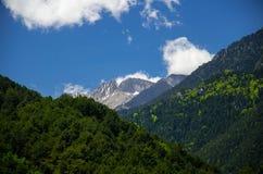 Άποψη των βουνών Olympus, Πιερεία, Μακεδονία, Ελλάδα στοκ φωτογραφία με δικαίωμα ελεύθερης χρήσης