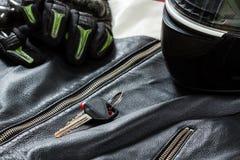 Άποψη των εξαρτημάτων αναβατών μοτοσικλετών Στοκ Εικόνες