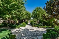 Άποψη των κήπων Generalife Alhambra Στοκ Εικόνες