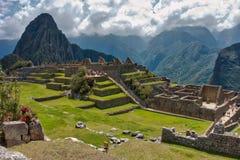 Άποψη των καταστροφών πετρών Incan σε Machu Picchu στοκ φωτογραφία με δικαίωμα ελεύθερης χρήσης