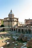 Άποψη των καταστροφών της αρχαίας Ρώμης Στοκ Εικόνες