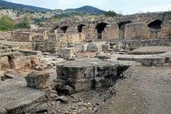 Άποψη των καταστροφών του παλατιού του τελευταίου βασιλιά Judea Agripp στοκ φωτογραφίες