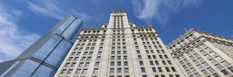 Άποψη των κτηρίων στο Σικάγο στοκ φωτογραφία