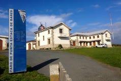 Άποψη των κτηρίων φάρων Estaca de Bares το πιό βορειότατο ακρωτήριο στην Ισπανία Επαρχία ενός Coruna, Γαλικία, Ισπανία στοκ φωτογραφία με δικαίωμα ελεύθερης χρήσης