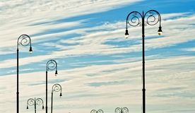 Άποψη των λαμπτήρων οδών στην Αβάνα Στοκ Εικόνες