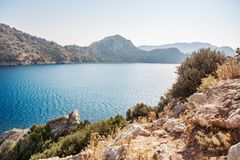 Άποψη των νησιών στη Μεσόγειο Τουρκία Στοκ φωτογραφίες με δικαίωμα ελεύθερης χρήσης