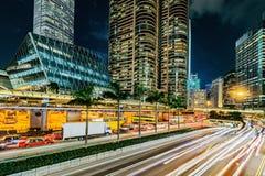 Άποψη των οδών πόλεων βραδιού στην κεντρική περιοχή στοκ φωτογραφία
