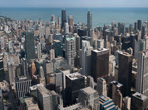 Ουρανοξύστες του Σικάγου από τον πύργο Willis Στοκ εικόνες με δικαίωμα ελεύθερης χρήσης