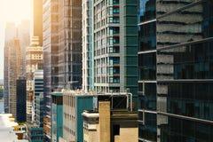 Άποψη των ουρανοξυστών στο Μανχάταν, πόλη της Νέας Υόρκης Στοκ Φωτογραφίες