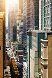 Άποψη των ουρανοξυστών στο Μανχάταν, πόλη της Νέας Υόρκης Στοκ Εικόνες