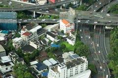 Άποψη των ουρανοξυστών της Μπανγκόκ ` s Στοκ εικόνες με δικαίωμα ελεύθερης χρήσης