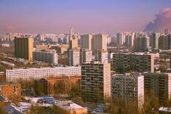 Άποψη των σπιτιών της πόλης της Μόσχας Στοκ Εικόνα