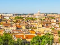 Άποψη των στεγών και εικονική παράσταση πόλης της Ρώμης Στοκ Φωτογραφία