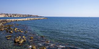 Άποψη των Συρακουσών από τη θάλασσα στοκ φωτογραφίες με δικαίωμα ελεύθερης χρήσης