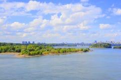 Άποψη των σωστών όχθεων του ποταμού Ob Novosibirsk στοκ φωτογραφία με δικαίωμα ελεύθερης χρήσης