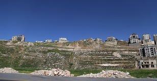 Άποψη των σύγχρονων σπιτιών Αμμάν, Ιορδανία Στοκ Εικόνα
