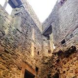 Άποψη των τοίχων κάστρων στοκ φωτογραφίες με δικαίωμα ελεύθερης χρήσης