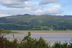 Άποψη των λόφων και των βουνών στην Ουαλία, UK στοκ εικόνα με δικαίωμα ελεύθερης χρήσης