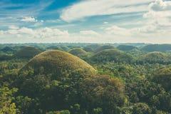 Άποψη των λόφων σοκολάτας σε Bohol, Pilippines Στοκ εικόνες με δικαίωμα ελεύθερης χρήσης