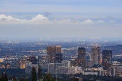 Άποψη λυκόφατος της περιοχής westwood στοκ εικόνα με δικαίωμα ελεύθερης χρήσης