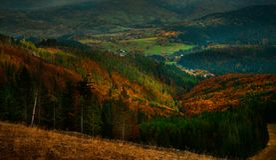 Άποψη φθινοπώρου του βουνού Tatra Στοκ Φωτογραφίες