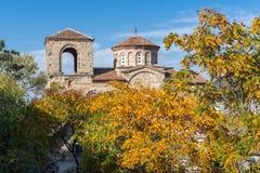 Άποψη φθινοπώρου του φρουρίου Asens, Αζένοβγκραντ, Βουλγαρία Στοκ Εικόνα