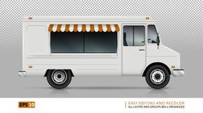Άποψη φορτηγών τροφίμων από τη δεξιά πλευρά ελεύθερη απεικόνιση δικαιώματος