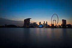 Άποψη φραγμάτων μαρινών πόλεων της Σιγκαπούρης Στοκ Εικόνες