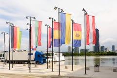 Άποψη φωτογραφιών σχετικά με τον ποταμό Δούναβη Στοκ φωτογραφία με δικαίωμα ελεύθερης χρήσης