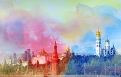 Άποψη φωτογραφιών της Μόσχας Κρεμλίνο Στοκ Εικόνες