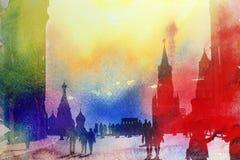 Άποψη φωτογραφιών της Μόσχας Κρεμλίνο Στοκ φωτογραφίες με δικαίωμα ελεύθερης χρήσης