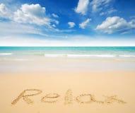 Άποψη φύσης τοπίων της Ταϊλάνδης μπλε ουρανού παραλιών ήλιων άμμου θάλασσας Στοκ Εικόνα